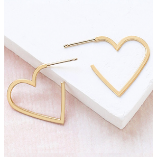 Earrings - Heart contour (small)