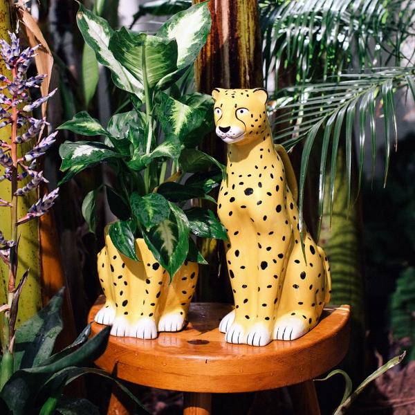 Ceramic planter - Cheetah