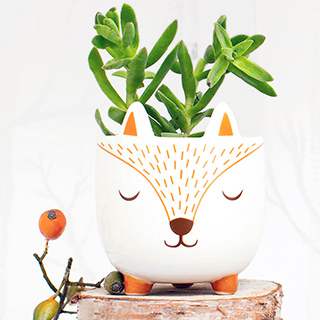Mini planter - Woodland fox