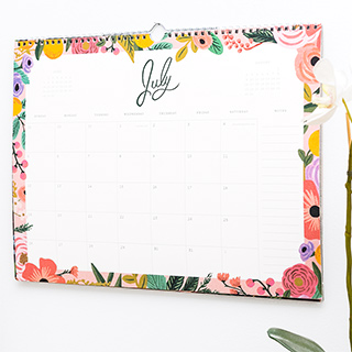 Rifle Paper appointment calendar - Wild rose 2020