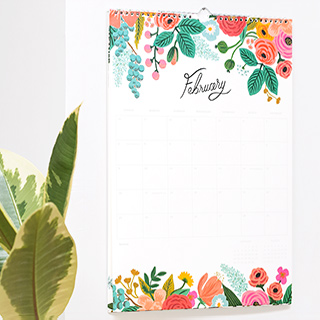 Rifle Paper appointment calendar - Garden blooms 2020