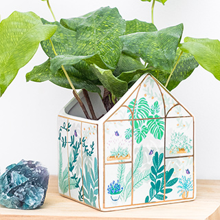 Planter - Pastel greenhouse