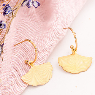 Hoop earrings - Ginkgo