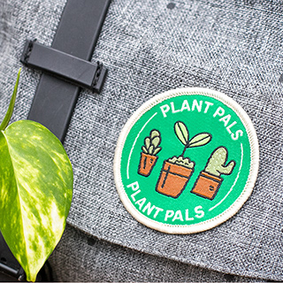 Card and woven patch - Plant pals