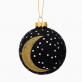 Christmas bauble - Glitter moon & stars