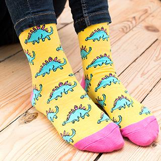 Punky Pins socks - Stegosaurus