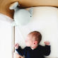 Plush baby comforter - Moby the whale