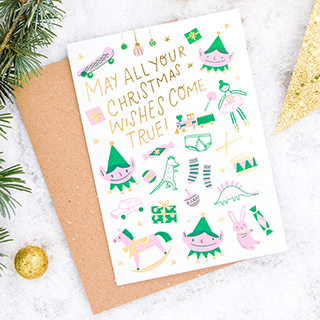 Christmas card - Christmas wishes