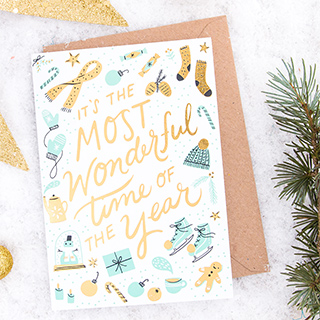 Christmas card - Most wonderful time of the year
