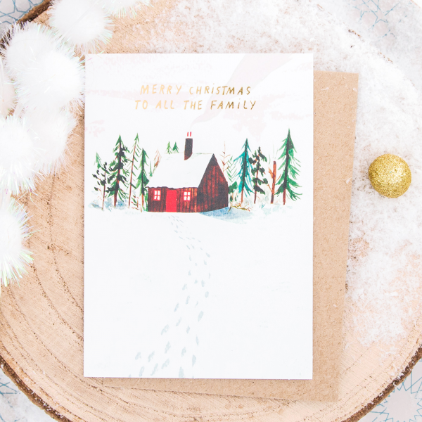 Christmas card - To all the family