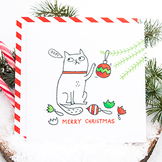 Christmas card - Oops by Gemma Correll
