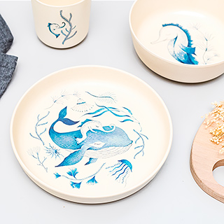 Dinner set for kids - Under the sea