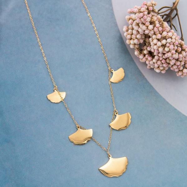 Necklace - Ginkgo leaves