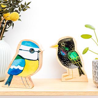 Wood decoration - Matt Sewel's bird v.1