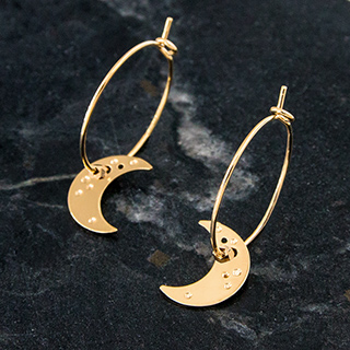 Hoop earrings - La nuit