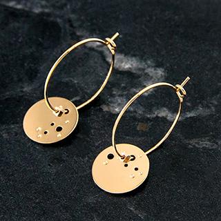 Hoop earrings - La nuit