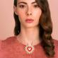 Large pin brooch - Coeur flamboyant