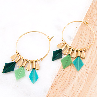 Hoop earrings - Debra (vegetal)