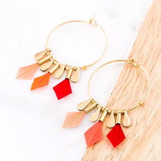 Hoop earrings - Debra (heart)