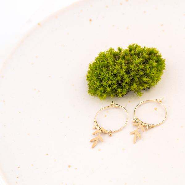Hoop earrings - Vegetal (saule)