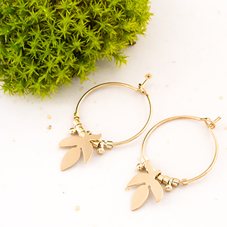 Hoop earrings - Vegetal (saule)