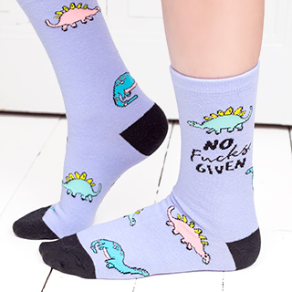 Punky Pins socks - Dino No fucks given