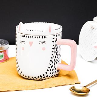 Porcelain mug - Forest owl