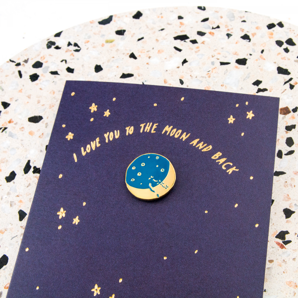 Carte + pin's -  To the moon and back