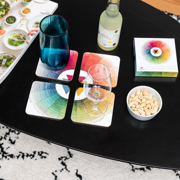 Curios coasters - Colour theory