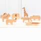 Wooden toy animal set