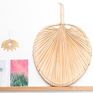 Palm leaf fan