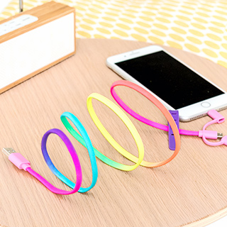 Lace USB cable - Rainbow