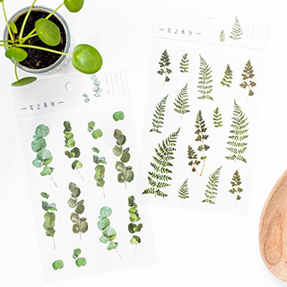 Stickers - Ferns and eucalyptus