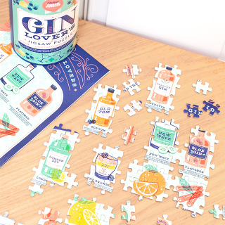 Jigsaw puzzle - Gin lover