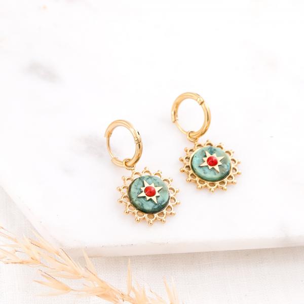 Mini hoop earrings - Rosace
