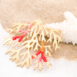 Large brooch - Coral