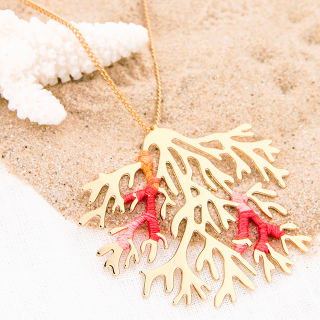Long necklace - Coral