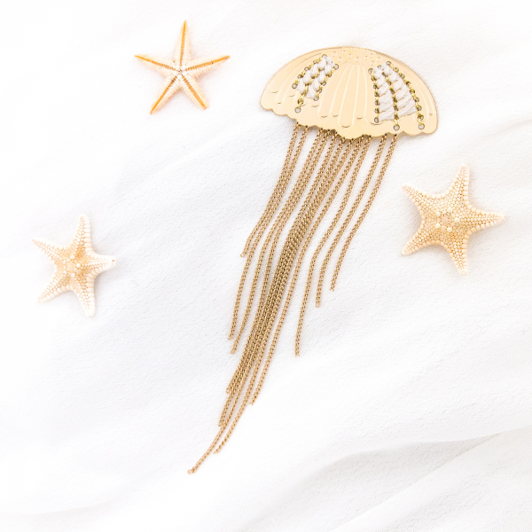 Pin brooch - Giant jellyfish