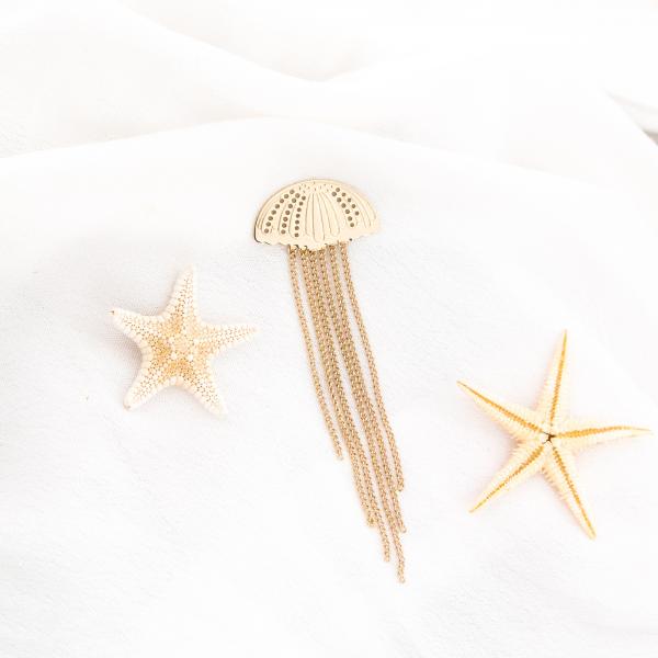 Pin brooch - Jellyfish