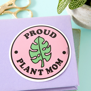 Large sticker - Proud plant mom