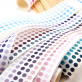Roll of washi paper round stickers