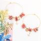 Hoop earrings - Nalani (rhodonite)