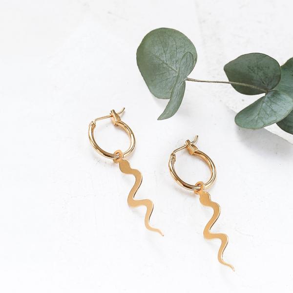Hoop earrings - Snake