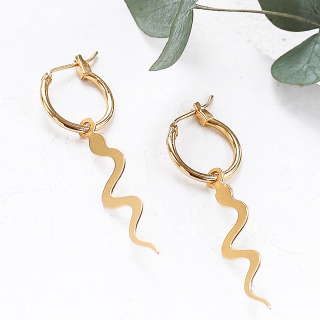 Hoop earrings - Snake
