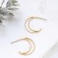Hoop earrings - Moon