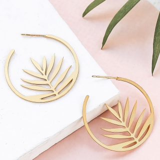 Hoop earrings - Palm