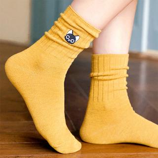 Socks - Embroidered black cat