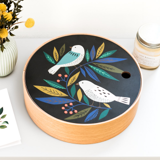 Wood storage box - Birds (S)