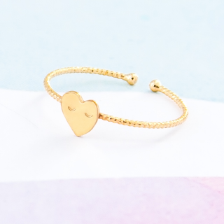 Gold ring - Heart