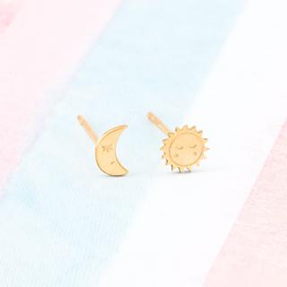 Earrings - Moon & sun